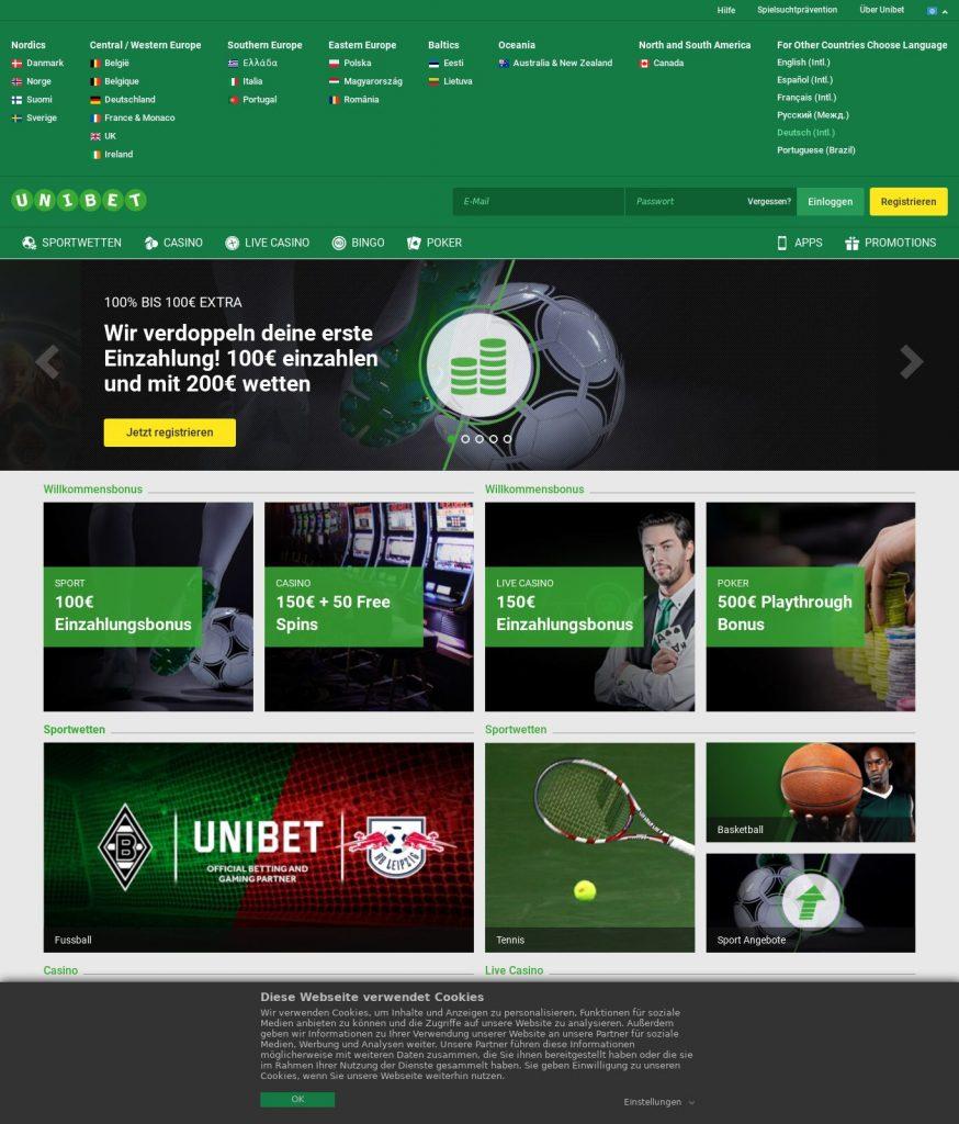Unibet Casino Bônus e Promoções